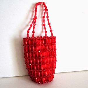 Red Beaded Bag